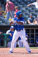 O'Koyea Dickson (7) of the Oklahoma City Dodgers at bat during a game against the Iowa Cubs at Chickasaw Bricktown Ballpark on April 9, 2016 in Oklahoma City, Oklahoma.  Oklahoma City defeated Iowa 12-1 (William Purnell/Four Seam Images)