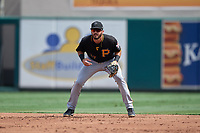 Pittsburgh Pirates first baseman Dylan Busby (17) during a Florida Instructional League game against the Detroit Tigers on October 16, 2020 at Joker Marchant Stadium in Lakeland, Florida.  (Mike Janes/Four Seam Images)