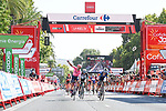 Magnus Cort Nielsen (DEN) EF Education-Nippo outsprints Andrea Bagioli (ITA) Deceuninck-Quick Step to win Stage 12 of La Vuelta d'Espana 2021, running 175km from Jaén to Córdoba, Spain. 26th August 2021.  <br /> Picture: Cxcling   Cyclefile<br /> <br /> All photos usage must carry mandatory copyright credit (© Cyclefile   Cxcling)