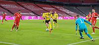 06.03.2021, Fussball 1. Bundesliga 2020/2021, 24. Spieltag, FC Bayern München - Borussia Dortmund, in der Allianz-Arena München. Tor zum 0:2, Torschütze Erling Haaland (mi., Borussia Dortmund)<br /> <br /> Foto: Bernd Feil/M.i.S./Pool<br /> <br /> Nur für journalistische Zwecke! Only for editorial use! <br /> DFL regulations prohibit any use of photographs as image sequences and/or quasi-video.    <br /> National and international NewsAgencies OUT. <br /> Bundesliga 2020/2021 <br /> photo Imago/Insidefoto <br /> ITALY ONLY