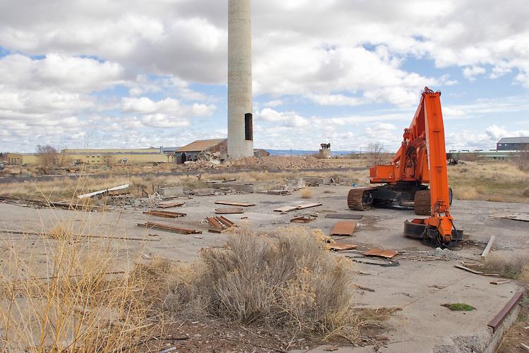 U.S.A., Northwest, Oregon, Eastern Oregon, Harney County, Hines, abandoned Edward Hines Lumber Mill,