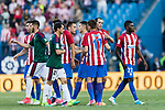 Atletico de Madrid players celebrating after winning Osasuna during the La Liga match between Atletico de Madrid vs Osasuna at Estadio Vicente Calderon on 15 April 2017 in Madrid, Spain. Photo by Diego Gonzalez Souto / Power Sport Images