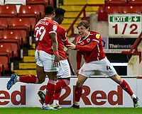 21st November 2020, Oakwell Stadium, Barnsley, Yorkshire, England; English Football League Championship Football, Barnsley FC versus Nottingham Forest; Callum Styles of Barnsley celebrates after making it 1-0 in min 84