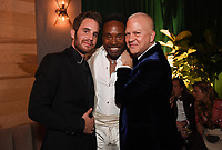 BEVERLY HILLS - JANUARY 5: (L-R) THE POLITICIAN cast member Ben Platt, FX's POSE cast member Billy Porter and THE POLITICIAN Executive Producer Ryan Murphy attend The Walt Disney Company 2020 Golden Globe Awards Nominee Celebration at The Disney Terrace on the Roof Deck at the Beverly Hilton on January 5, 2020 in Beverly Hills, California. (Photo by Frank Micelotta/The Walt Disney Company/PictureGroup)