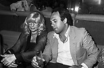 MONICA VITTI CON CARLO VERDONE<br /> ROMA 1981