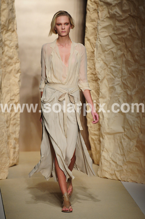 **ALL ROUND PICTURES FROM SOLARPIX.COM**.**SYNDICATION RIGHTS FOR UK, AUSTRALIA, DENMARK, PORTUGAL, S. AFRICA, SPAIN & DUBAI (U.A.E) & ASIA (EXCLUDING JAPAN) ONLY**.Mercedes-Benz Fashion Week Spring 2011 - Donna Karan - Runway, Stefan Weiss Studio, 71 Greenwich Street, NY, USA, 13 September 2010.This pic: Model  ..JOB REF: 12089    PHZ chervin   DATE: 13_09_2010.**MUST CREDIT SOLARPIX.COM OR DOUBLE FEE WILL BE CHARGED**.**MUST NOTIFY SOLARPIX OF ONLINE USAGE**.**CALL US ON: +34 952 811 768 or LOW RATE FROM UK 0844 617 7637**