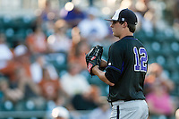 Central Arkansas Bears pitcher Clint Green #12 during the NCAA baseball game against the Texas Longhorns on April 24, 2012 at the UFCU Disch-Falk Field in Austin, Texas. The Longhorns beat the Bears 4-2. (Andrew Woolley / Four Seam Images).