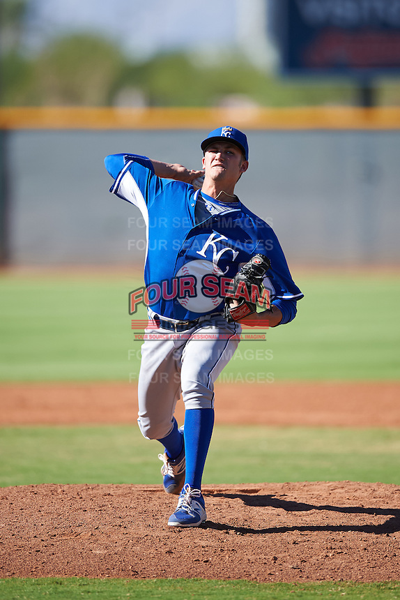 Kansas City Royals pitcher Walker Sheller (41) during an Instructional League game against the Cleveland Indians on October 11, 2016 at the Cleveland Indians Player Development Complex in Goodyear, Arizona.  (Mike Janes/Four Seam Images)