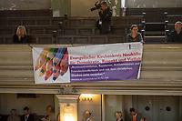 """Deutscher Evangelischer Kirchentag 2017 in Berlin.<br /> Veranstaltung aus der Reihe """"Zentrumsreihe Streitzeit"""" """"Christen in der AfD?"""" am Donnerstag den 25. Mai 2017 in der Sophienkirche in Berlin-Mitte.<br /> Auf dem Podium diskutierten Moderatorin Bettina Warken, Journalistin aus Berlin. Anette Schultner, Bundesverband Christen in der AfD aus Hessisch Oldendorf. Dr. Liane Bednarz, Juristin und Publizistin aus Muenchen. Dr. Markus Droege, Landesbischof Berlin-Brandenburg.<br /> 25.5.2017, Berlin<br /> Copyright: Christian-Ditsch.de<br /> [Inhaltsveraendernde Manipulation des Fotos nur nach ausdruecklicher Genehmigung des Fotografen. Vereinbarungen ueber Abtretung von Persoenlichkeitsrechten/Model Release der abgebildeten Person/Personen liegen nicht vor. NO MODEL RELEASE! Nur fuer Redaktionelle Zwecke. Don't publish without copyright Christian-Ditsch.de, Veroeffentlichung nur mit Fotografennennung, sowie gegen Honorar, MwSt. und Beleg. Konto: I N G - D i B a, IBAN DE58500105175400192269, BIC INGDDEFFXXX, Kontakt: post@christian-ditsch.de<br /> Bei der Bearbeitung der Dateiinformationen darf die Urheberkennzeichnung in den EXIF- und  IPTC-Daten nicht entfernt werden, diese sind in digitalen Medien nach §95c UrhG rechtlich geschuetzt. Der Urhebervermerk wird gemaess §13 UrhG verlangt.]"""