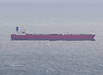 Pictured: Nave Andromeda anchored off the east coast of the island following reports of the vessel being seized by hijackers earleir today. <br /> <br /> A major incident is underway off the British coast today following reports of an attempted hijacking of a ship.   The 228-metre oil tanker has been forced to anchor in the Solent following reports that a number of stowaways have been found on board.<br /> <br /> Authorities including the Coastguard and police scrambled to the scene off the south east of the Isle of Wight.   The Liberian-flagged Nave Andromeda, which has been at sea since leaving Nigeria earlier this month, is now being monitored by a Coastguard Rescue 175 helicopter which is circling above.   SEE OUR COPY FOR DETAILS<br /> <br /> Please byline: Island Echo/Solent News<br /> <br /> © Island Echo/Solent News & Photo Agency<br /> UK +44 (0) 2380 458800