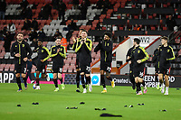 AFC Bournemouth players applaud the crowd prior to their warm up during AFC Bournemouth vs Wycombe Wanderers, Sky Bet EFL Championship Football at the Vitality Stadium on 15th December 2020