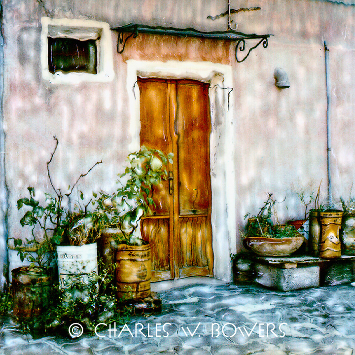 Chiaggia resident creates a herb garden at the front door with creative pots.<br /> <br /> -Limited Edition of 50 Prints