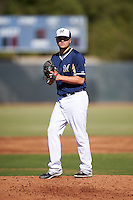 Milwaukee Brewers pitcher Jonathon Olczak (82) during an Instructional League game against the Cincinnati Reds on October 14, 2016 at the Maryvale Baseball Park Training Complex in Maryvale, Arizona.  (Mike Janes/Four Seam Images)