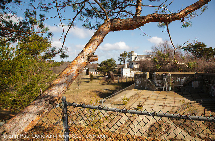 Fort Stark during the spring months. Located in New Castle, New Hampshire USA. Fort Stark is a old military fort