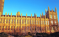 London: Houses of Parliament, South Elevation.  Photo '79.