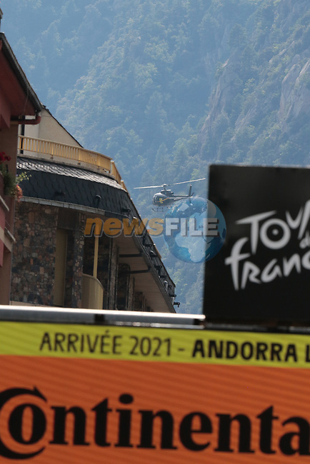 Andorre-La-Vieille finish of Stage 15 of the 2021 Tour de France, running 191.3km from Céret to Andorre-La-Vieille, Andorra. 11th July 2021.  <br /> Picture: Colin Flockton   Cyclefile<br /> <br /> All photos usage must carry mandatory copyright credit (© Cyclefile   Colin Flockton)
