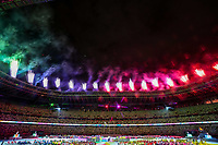 5th September 2021; Tokyo, Japan, 2020 Paralympic Games, closing ceremony: Fireworks explode over the Olympic Stadium during the closing ceremony