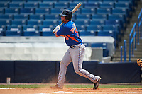 Cole Halfacre (16) of Tate High School in Cantonment, Florida playing for the New York Mets scout team during the East Coast Pro Showcase on July 30, 2015 at George M. Steinbrenner Field in Tampa, Florida.  (Mike Janes/Four Seam Images)