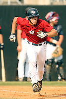 September 15, 2009:  Connor Mason, one of many top prospects in action, taking part in the 18U National Team Trials at NC State's Doak Field in Raleigh, NC.  Photo By David Stoner / Four Seam Images