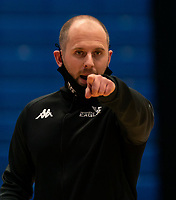 Chris Bunten Head Coach of Newcastle Eagles during the WBBL Championship match between Sevenoaks Suns and Newcastle Eagles at Surrey Sports Park, Guildford, England on 20 March 2021. Photo by Liam McAvoy