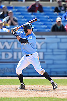 Wilmington Blue Rocks third baseman Hunter Dozier (18) during a game against the Myrtle Beach Pelicans on April 27, 2014 at Frawley Stadium in Wilmington, Delaware.  Myrtle Beach defeated Wilmington 5-2.  (Mike Janes/Four Seam Images)
