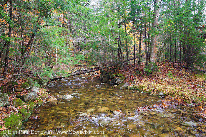 Remnants of a stone bridge that once crossed Talford Brook at Thornton Gore in Thornton, New Hampshire. This was an old hill farm community that was abandoned during the 19th century.