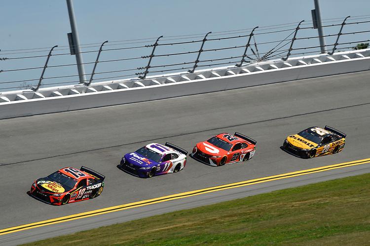 #19: Martin Truex Jr., Joe Gibbs Racing, Toyota Camry #11: Denny Hamlin, Joe Gibbs Racing, Toyota Camry  #23: Bubba Wallace, 23XI Racing, Toyota Camry #20: Christopher Bell, Joe Gibbs Racing, Toyota Camry DEWALT