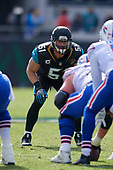 Jacksonville Jaguars linebacker Paul Posluszny (51) during an NFL Wild-Card football game against the Buffalo Bills, Sunday, January 7, 2018, in Jacksonville, Fla.  (Mike Janes Photography)