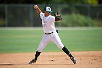 Jesus Pacheco (2) during the WWBA World Championship at the Roger Dean Complex on October 10, 2019 in Jupiter, Florida.  Jesus Pacheco attends Cypress Bay High School in Weston, FL and is committed to Jacksonville.  (Mike Janes/Four Seam Images)