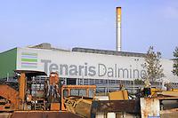 - Bergamo, Tenaris Dalmine steel plant....- Bergamo, stabilimento siderurgico Tenaris Dalmine....