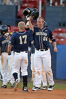 Pittsburgh Panthers David Chester #24 during a game vs. the Central Michigan Chippewas at Chain of Lakes Park in Winter Haven, Florida;  March 11, 2011.  Pittsburgh defeated Central Michigan 19-2.  Photo By Mike Janes/Four Seam Images