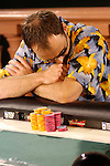 Lyters reaction's on the final had, as he contemplates going all in, which he does, but then loses the hand, for second place.
