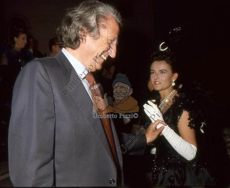 GIORGI FORATTINI E PAMELA ALVIN<br /> PREMIO CONDOTTI - SCALINATA TRINITA' DEI MONTI ROMA 1987