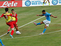 Gol di Matteo Politano  durante il Triangolare precampionato nel ritiro estivo  tra Napoli , L'Aquila e il Castel Di Sangro allo stadio Patini