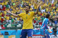 Brazil's Fred goes close