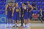 League ACB-ENDESA 2020/2021 - Game: 1.<br /> Barça vs Hereda San Pablo Burgos: 89-86.<br /> Oriola, Hanga, Calathes, Jasikevicius, Abrines & Mirotic.