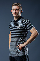 Pictured: Declan John. Thursday 29 August 2018<br />Re: Swansea City FC player and staff profile photo-shoot at Fairwood Training Ground, Wales, UK