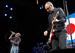 The Who's Roger Daltrey and Pete Townshend perform during the band's performance at the Toyota Center Saturday Nov. 18,2006.(Dave Rossman/For the Chronicle)<br />