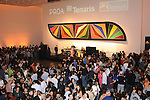 Guests listen to music at the kick-off party for the Latin Wave: New Films From Latin America festival a the Museum of Fine Arts Houston Thursday April 29,2010.. (Dave Rossman Photo)