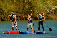 Outdoor enthusiasts try out stand up paddleboarding at the US National Whitewater Center in Charlotte. Stand Up Paddleboarding (SUP) is a fast-growing sport that offers a full-body workout and fun. USNWC began offering SUP in 2011.