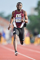 Shavez Hart of Texas A&M competes in 100 meter prelims during West Preliminary Track and Field Championships, Friday, May 29, 2015 in Austin, Tex. (Mo Khursheed/TFV Media via AP Images)