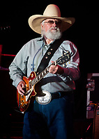 06 July 2020 - Country music and southern rock legend Charlie Daniels has passed away after suffering a stroke. The Grand Ole Opry member and Country Music Hall of Famer was 83. File Photo: 20 July 2012 - Morristown, Ohio - Charlie Daniels. The Charlie Daniels Band performs during the 2012 Jamboree In The Hills. Photo Credit: Ryan Pavlov/AdMedia