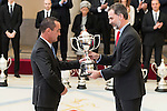 King Felipe VI of Spain attends to the National Sports Awards 2015 at El Pardo Palace in Madrid, Spain. January 23, 2017. (ALTERPHOTOS/BorjaB.Hojas)