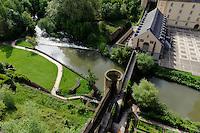 Brücke Stierchen über die Alzette in Grund, Stadt Luxemburg, Luxemburg
