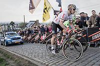 André Greipel (DEU/Lotto-Soudal) up the final ascent of the Paterberg<br /> <br /> 101th Ronde Van Vlaanderen 2017 (1.UWT)<br /> 1day race: Antwerp › Oudenaarde - BEL (260km)