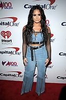 NEW YORK, NY - DECEMBER 8: Demi Lovato at Z100's Jingle Ball 2017 at Madison Square Garden in New York City, Credit: John Palmer/MediaPunch /nortephoto.com NORTEPHOTOMEXICO