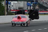 May 13, 2011; Commerce, GA, USA: NHRA pro stock driver V Gaines during qualifying for the Southern Nationals at Atlanta Dragway. Mandatory Credit: Mark J. Rebilas-