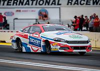 Aug 19, 2018; Brainerd, MN, USA; NHRA pro stock driver Alex Laughlin during the Lucas Oil Nationals at Brainerd International Raceway. Mandatory Credit: Mark J. Rebilas-USA TODAY Sports
