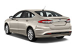 Car pictures of rear three quarter view of 2017 Ford Fusion SE-FWD 4 Door Sedan Angular Rear