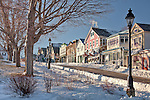 A winter morning in Bar Harbor, Downeast, ME, USA